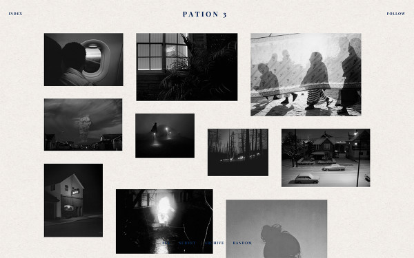 Pation Tumblr theme preview 3 with black and white images