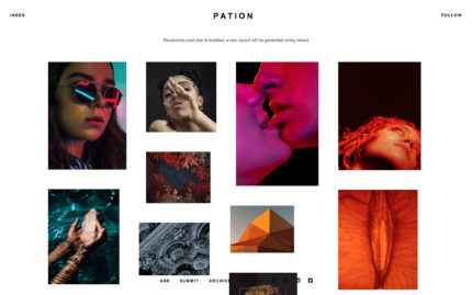 Tumblr theme Pation - Grid Theme with a Stylish Approach