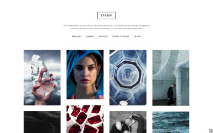 Tumblr theme Stamp - Versatile Minimal Grid Template
