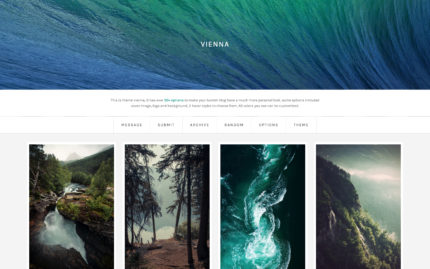 Tumblr theme Vienna - The Ultimate Modern Grid Theme