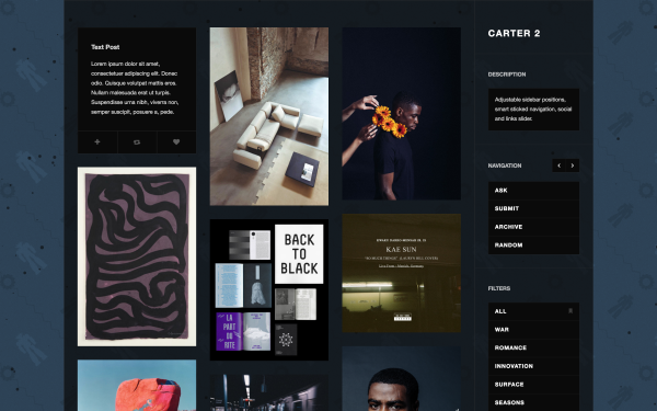 A clean and tidy Tumblr theme