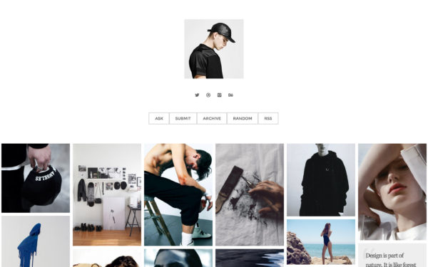 Revolve - the header layout