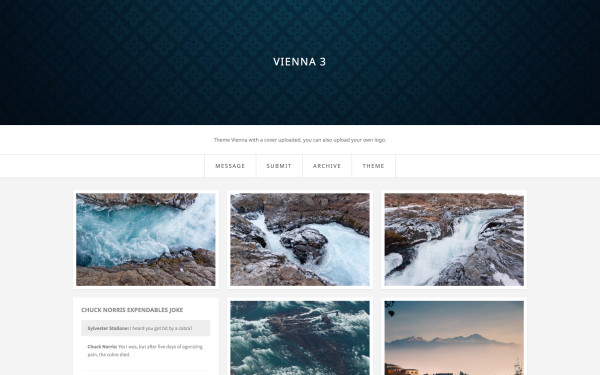 Vienna with a custom uploaded cover image