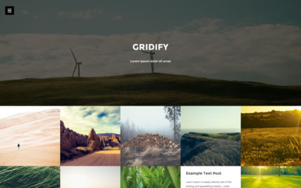 Gridify Tumblr theme